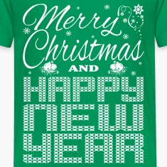 Merry Christmas Happy New Year Kids' Shirts