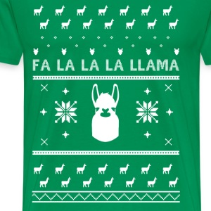 Llama Christmas Sweater Shirt T-Shirts - Men's Premium T-Shirt