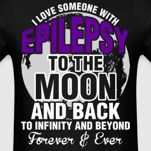 I Love Someone With Epilepsy To The Moon And Back  - Men's T-Shirt