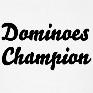 dominoes champion t-shirt - Men's T-Shirt