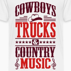 cowboy trucks & country music Kids' Shirts