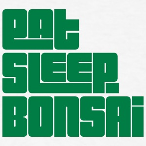 eat sleep bonsai text t-shirt - Men's T-Shirt