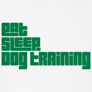 eat sleep dog training text t-shirt - Men's T-Shirt