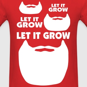 Let It Grow Beard T-Shirts - Men's T-Shirt