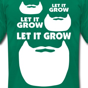 Let It Grow Beard T-Shirts - Men's T-Shirt by American Apparel