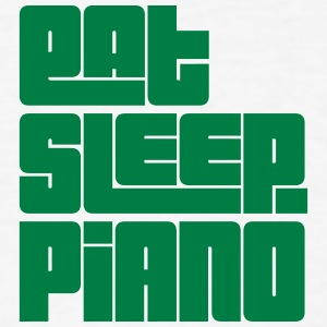 eat sleep piano text t-shirt - Men's T-Shirt