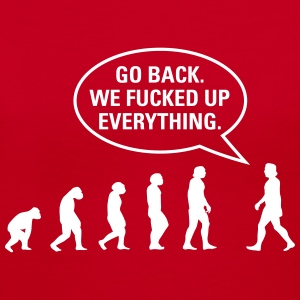 Fucked up Evolution Women's T-Shirts - Women's V-Neck T-Shirt