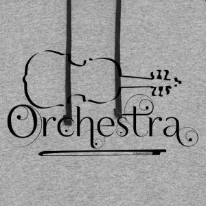 Orchestra Violin Outline Hoodies - Colorblock Hoodie