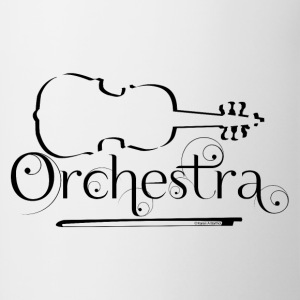 Orchestra Violin Outline Mugs & Drinkware - Contrast Coffee Mug