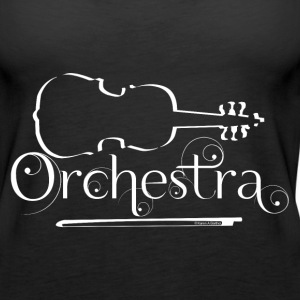 Orchestra White Violin Outline Tanks - Women's Premium Tank Top