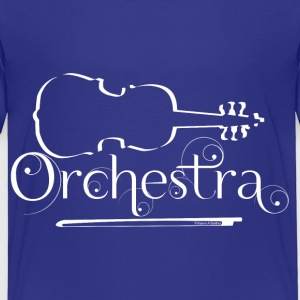 Orchestra White Violin Outline Baby & Toddler Shirts - Toddler Premium T-Shirt