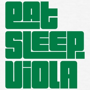 eat sleep viola text t-shirt - Men's T-Shirt