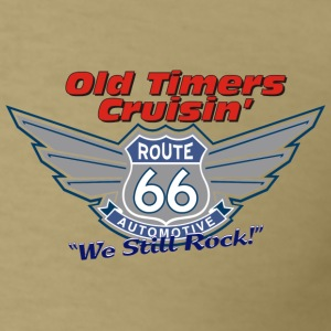 Old Timers Crusin Route 66 - Men's T-Shirt