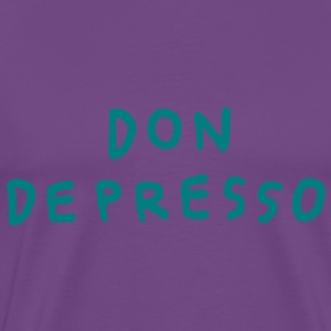 Don Depresso - teal on purple - Men's Premium T-Shirt