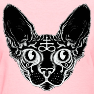 Black Sphinx Cat Women's T-Shirts - Women's T-Shirt