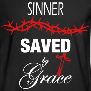 Sinner Saved by Grace Long Sleeve Shirts - Men's Long Sleeve T-Shirt