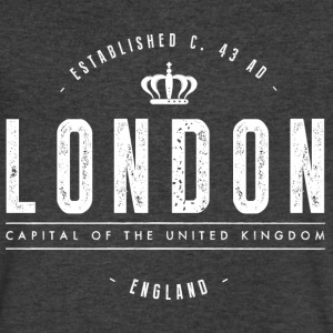 London T-Shirts - Men's V-Neck T-Shirt by Canvas