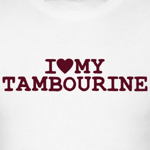 i love heart my tambourine t-shirt - Men's T-Shirt