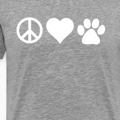 Peace Love Paws Veterinarian T-shirt T-Shirts