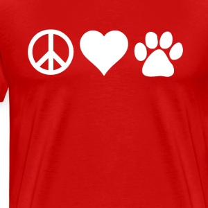 Peace Love Paws Veterinarian T-shirt T-Shirts - Men's Premium T-Shirt