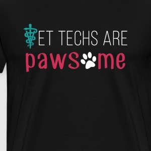 Vet Techs are pawsome Veterinary T-shirt T-Shirts - Men's Premium T-Shirt