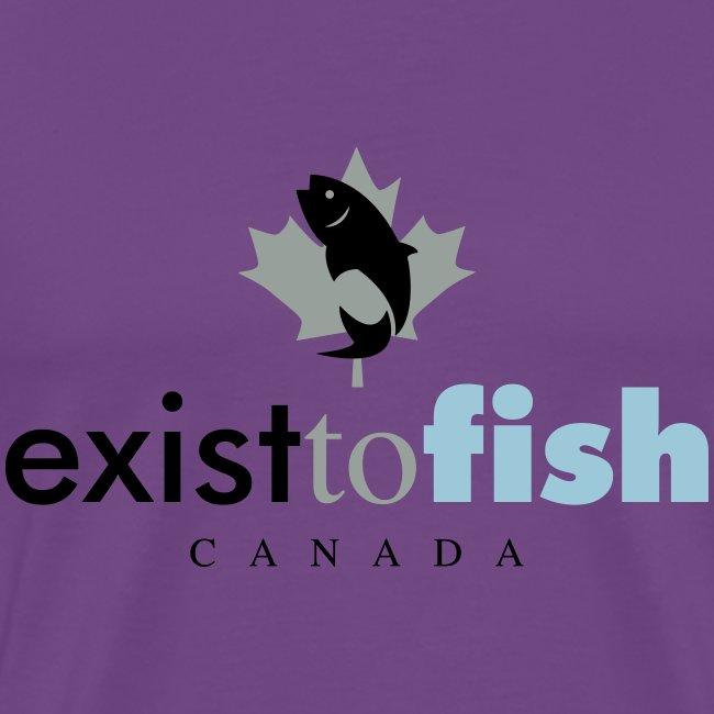 Exist To Fish Premium Men's T Shirt