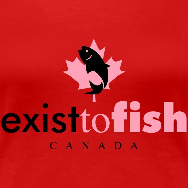 Exist To Fish Premium Women's T Shirt