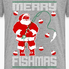 Santa Merry Fishmas Kids' Shirts