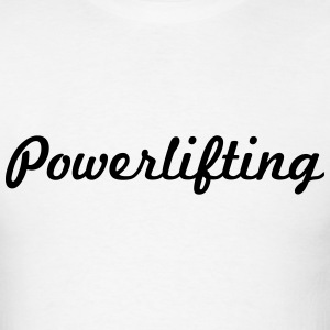 powerlifting script logo t-shirt - Men's T-Shirt