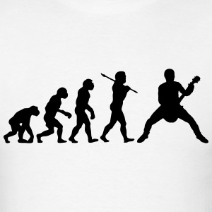 rock out guitarist evolution t-shirt - Men's T-Shirt