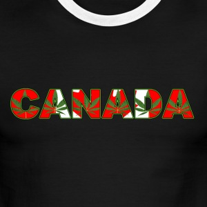 CANADA HEMP FLAG - Men's Ringer T-Shirt