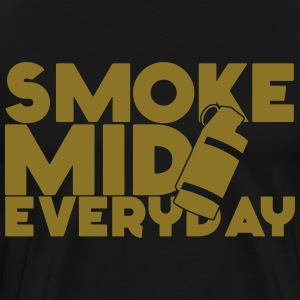 Smoke Mid Everyday CS:GO Limited Edition Gold Foil - Men's Premium T-Shirt