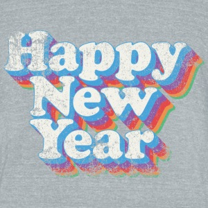 Happy New Year Vintage - Unisex Tri-Blend T-Shirt by American Apparel