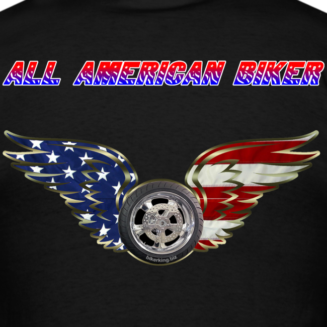 Men's Standard T- All American Biker (Back)