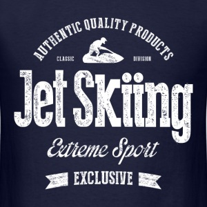 JetSkiing Extreme Sport White Art - Men's T-Shirt