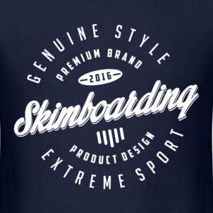 Skimboarding Extreme Sport White Art - Men's T-Shirt
