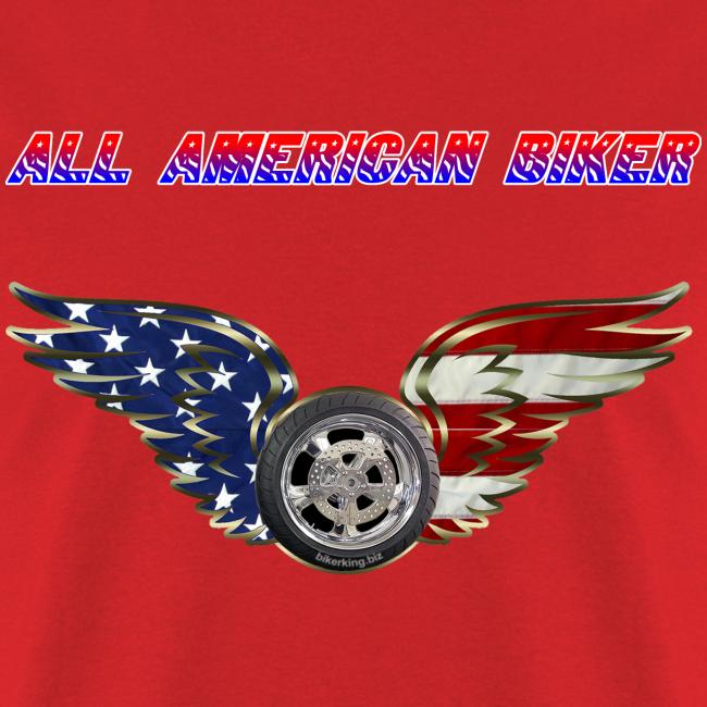 Men's Standard T- All American Biker (Front)