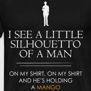I see a little silhouetto of a man, an Anchorman - Men's Premium T-Shirt