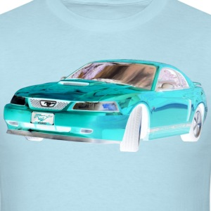 MUSTANG CHROME BLUE PNG T-Shirts - Men's T-Shirt