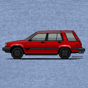 Jesse Pinkman's Crappy Red Toyota Tercel SR5 4WD  T-Shirts - Unisex Tri-Blend T-Shirt by American Apparel