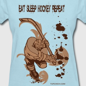 Eat Sleep Hockey Repeat - TC - Women's T-Shirt