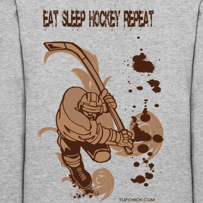 Eat Sleep Hockey Repeat Hoodie - Women's - Back Print