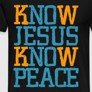 Jesus Know Peace, cool christian shirts - Men's Premium T-Shirt