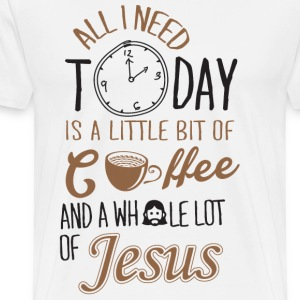 jesus coffee, christian, team jesus - Men's Premium T-Shirt