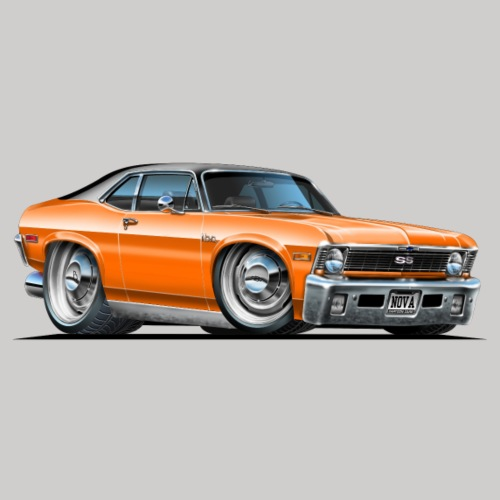 1968-70 Chevy Nova Orange Car
