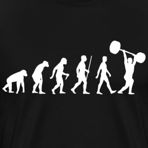 Weightlifter Evolution of Man bodybuilding lift - Men's Premium T-Shirt