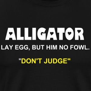 JUSFLEX JAMAICAN TEE - ALLIGATOR - Men's Premium T-Shirt