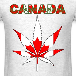CANADA HEMP LEAF FLAG - Men's T-Shirt