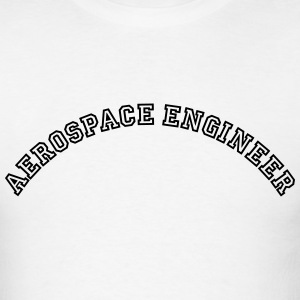 aerospace engineer curved college style  t-shirt - Men's T-Shirt