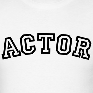 actor curved college style logo t-shirt - Men's T-Shirt